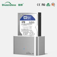 caixas duras de alumínio venda por atacado-Alta velocidade caso hd externo sata para usb 3.0 case hd 3.5 disco rígido externo hdd docking station Sata USB 3.0 Alumínio 1 Bay