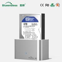 ingrosso cassa dura in alluminio-Custodia ad alta velocità hd externo sata a usb 3.0 case hd 3.5 disco rigido esterno hdd docking station Sata USB 3.0 alluminio 1 bay