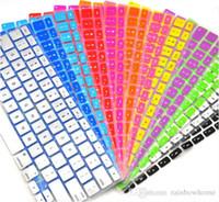 15 кожаный чехол для ноутбука оптовых-Ноутбук Мягкий Силиконовый Красочный KeyBoard Чехол Защитная Крышка Кожи Для MacBook Pro Air Retina 11 12 13 15 17 Водонепроницаемый Пылезащитный розничная коробка