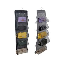 Wholesale Finish Doors - New Closet durable door pockets fashion handbags finishing hanging bags organizer hang storage Products