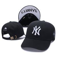 любители бейсбола оптовых-NY остроконечная крышка многоцветный хип-хоп Бейсбол 100% хлопок шапки вышивать любителей моды случайные регулируемые Snapback шляпы Мужчины Женщины козырек