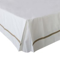 Wholesale king sized bedding sale online - Free ship Hot Sale Hotel Bed Skirt Colors Thick Poly Cotton Canvas Bed Skirt for King Queen Size Hotel Line