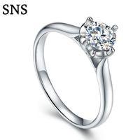 natürlicher 14k diamant großhandel-0.3 14k White GoldClassic 4-Zinken Einstellung natürlichen Diamanten Verlobungsring Halo Style für Frauen