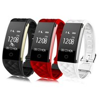 tw64 smart band fitness tracker großhandel-2018 Dynamische Herzfrequenz S2 Smartband Fitness Tracker Schrittzähler Smart Watch Band Vibration Armband für ios android pk ID107 fitbit tw64