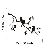 Wholesale Tattoos For Wall - Birds On The Tree Branch Wall Stickers 57X85cm Vinyl Wall Art Decals Quotes Custom Color Wall Tattoo Stickers muraux