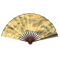 ingrosso decorazioni cinesi all'aria aperta-Poesia cinese modello di carta di bambù grande ventaglio pieghevole a mano ballerino fan favore per la decorazione della festa nuziale all'aperto decorazioni per la casa