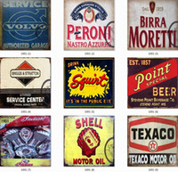Wholesale home wall art painting online - Tin Signs Collection Shell Route Vintage Wall Art RetroTIN SIGN Old Wall Metal Painting ART Bar Man Cave Pub Restaurant Home Decoration