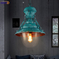 Wholesale Vintage Hanging Light Fixtures - IWHD Nordic Style Iron Pendant Lamp Vintage Industrial Lighting Fixtures Loft Retro Hanging Lights Bar Bedroom Restaurant Light