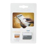capacidad de la tarjeta de memoria de 64 gb al por mayor-100% de capacidad total real EVO 64GB 32GB 16GB 8GB 4GB 2GB 2GB TF Tarjeta de memoria Flash Adaptador SD gratuito Venta al por menor Paquete de ampolla 2018 Venta caliente