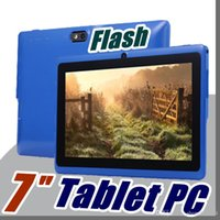 pulgadas de la cámara flash al por mayor-40X Allwinner A33 Quad Core Q88 Tablet PC Cámara dual 7
