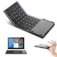 klavye ios android toptan satış-Mini Katlanabilir Dokunmatik 3.0 Bluetooth Klavye iPhone iPad Dex Için Win iOS Android Sistemi Win