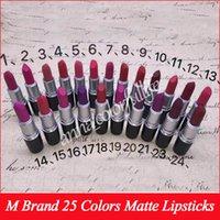 Wholesale english lipsticks online - 2017 NEW matte Lipstick M Makeup Luster Retro Lipsticks Frost Sexy Matte Lipsticks g colors lipsticks with English Name