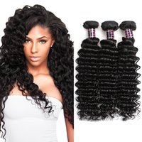 Wholesale Cheap Malaysian Deep Wave - Ishow Human Hair 8A Brazilian Deep Wave 3 Bundles Wholesale Cheap Unprocessed 100% Human Hair 8-28inch Brazilian Virgin Hair Free Shipping