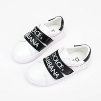 Wholesale new korean sneakers - Christmas D summer Korean wild new G children's shoes casual fashion letters magic slip wear boys running shoes grils sneakers white pink