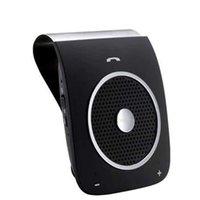 sprachlautsprecher großhandel-Freisprecheinrichtung Bluetooth V4.0 Car Kit Sunvisor Drahtlose Autolautsprecher Unterstützung Sprachwahl Hifi Stereo Verbinden Zwei Telefon