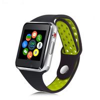 polegadas janelas capacitivas venda por atacado-M3 Inteligente relógio de Pulso Smartwatch com MTK6261A CPU 1.54 polegada LCD OGS capacitiva Tela de Toque do Cartão SIM Slot Camera para apple PK DZ09 Watch