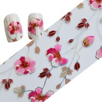 Wholesale Nail rose sticker Gold and silver laser side red petals Leaves rose DIY star sticker glue tool