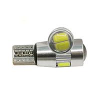 bombilla led amarilla lente al por mayor-t10 6SMD LED 5630 5730 ERROR LIBRE DE LENTES, lámpara LED BOMBILLA automática W5W T10 luz interior de canbus