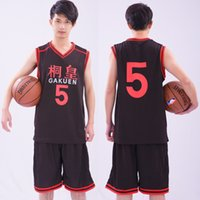 Wholesale gakuen cosplay for sale - Anime Kuroko no Basuke GAKUEN No Aomine Daiki Basketball Jersey Cosplay Costume unisex Sports Wear Uniform emboitement