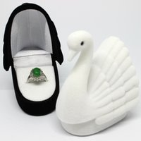 taşıma çantası takı toptan satış-1 Adet Yeni Yenilik Kadife Hayvan Halka Kutusu Sıcak Zarif Güzel Küpe Kutusu Taşıma çantası Hediye Moda Durumda Takı Ekran Ambalaj
