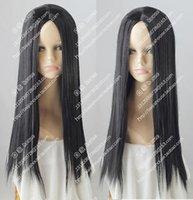 orta boy kostümler toptan satış-Orta siyah saç Anime Kostüm partisi hayalet peruk