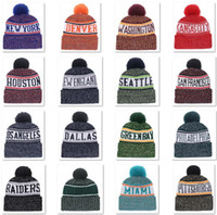 fe71040d040a4 Wholesale sports team hats online - 2018 New Arrival Beanies Hats American Football  teams Beanies Sports