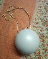 cajas redondas de joyas al por mayor-Organizador de acrílico de la joyería de la caja del almacenamiento de la forma redonda de la moda con la hebilla de lujo con dos cadenas