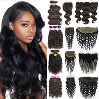 Wholesale Cambodian Mixed - Cambodian Body Wave Human Hair Weaves Bundle Deals Body Weave Wet and Wavy Hair 3 Bundles with Lace Closure Frontal Bundles Natural Black