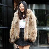 Wholesale G Dog - CX-G-A-105 Patchwork Ladies Natural Colour Real Raccoon Dog Fur Clothes