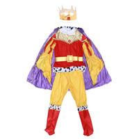 erkek kral kostümü toptan satış-Çocuk Cadılar Bayramı Dans Partisi Cosplay Performans Kostümleri Boy Kral Prens Giyim Boyutu M (B00-10)