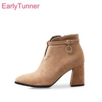 3604fc3314f Brand New Hot Sexy Apricot Brown Women Ankle Nude Boots Office Lady Dress  Shoes High Heels EK187 Plus Big Small Size 10 32 43 47