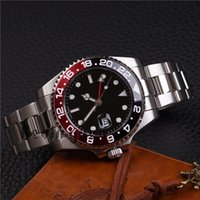 Wholesale Watches Hours Men - Luxury Brand Black Dial Limited Women's Fashion Men Watch GMT New Mechanical Automatic Master ii Mens Stainless Steel Wristw Watches Hour