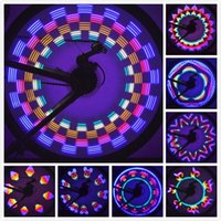 велосипедные фонари оптовых-New Arrival 42 Patterns 32 Colorful LED Bicycle Cycling Lights Wheel Spoke Light Lamp Waterproof Drop Shipping