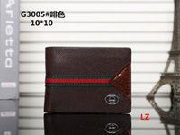 Wholesale Mens Silk Bow Ties - Mens Brand Wallet free shipping 2018 Men's Leather With Wallets For Men Purse Wallet Men Wallet with dust bag 001
