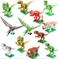 Wholesale kids building toys for sale - Dinosaur Model Blocks Toys Jurassic World Park Movie Triceratops Tyrannosaurus Building Blocks Kids Toy Novelty Items GGA1278