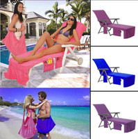 Wholesale solid beach towels - Swimming Towels Lounger Mate Beach Towel 73*210cm Microfiber Sunbath Lounger Bed Holiday Garden Beach Chair Cover Towels OOA4702
