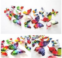 ingrosso adesivi farfalla per i bambini dei muri-Adesivo murale farfalla 3D home decor Adesivo murale Adesivo murale vintage per camerette per bambini 12 pezzi / borsa