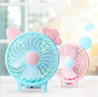 Wholesale mini folding usb fan - Portable Folding Fan USB Charging Cool Removable Rotating Handheld Mini Outdoor Fans Pocket Folding Fan 72pcs OOA4918