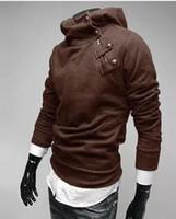 пуловеры из меха оптовых-Бесплатная доставка тонкий мужской пуловер с капюшоном толстовка с меховым воротником с капюшоном