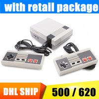 Wholesale Video Game Packaging - 2018 New Arrival Mini TV Game Console Video Handheld for NES games consoles with retail box Package 1 Day Ship