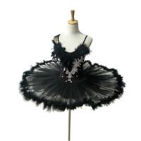 siyah tutu kadınlar toptan satış-Yetişkin Profesyonel Beyaz Kuğu Gölü Bale Tutu Kostüm Kızlar Çocuk Balerin Elbise Bale Elbise Giyim Dans Elbise Kadınlar için Siyah 002