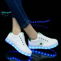 dança usb venda por atacado-Sapatilhas luminosas Crianças Piscando Sapatos para Fantasma Dança Levou Tênis Brilhantes Sapatos para Meninos Meninas Acender Sapatos de Carregamento USB