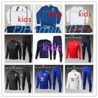 Wholesale Track Suit Pants Men - kids 2017 2018 Ajax Jacket Tracksuit 17 18 Real Madrid AC Milan Juvtus Track Soccer Jogging youth Football Tops Coat Pant Training Suit