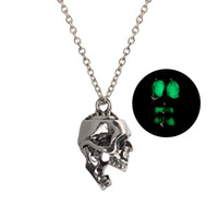 Wholesale skull pendants for men resale online - Skull Pendant Necklace Luminous Jewelry Silver Color Chain Glow in the Dark Necklace For Women Men Gift Choker Statement Necklace