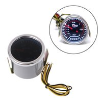 Wholesale-52mm Auto Universal LED Pointer Bar Turbo Ladedruck Vakuumpresse Meter Set S12