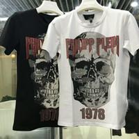 Wholesale tassel tshirts resale online - Men Designer Brand Cotton T shirts Youth Fashion Casual Black And White Short Sleeved Tshirts Size M XL