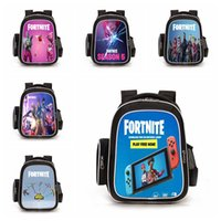 Wholesale gifts for teenage girls online - 39 color Fortnite School Backpack for Teenage Girl Boys Casual Laptop Backpack Man Travel Bag Cartoon Printed Book Bag Kid Gift MMA427