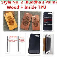 iphone 5s covers wood Australia - Style No. 2 Buddha Palm Unique Stylish Classy Snap-On Real Wood Wooden Bamboo TPU Rear Back Cover Case for iPhone X 8 7 6S 6 Plus 5 5S SE