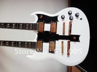 guitare double manche de qualité achat en gros de-Livraison gratuite de haute qualité nouvelle arrivée 6 + 12 cordes double cou G Custom guitare SG 1275 blanc guitare électrique or matériel