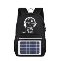 énergie solaire pour ordinateur portable achat en gros de-Sac à dos à alimentation solaire USB Recharge Anti-Theft Laptop Backpack pour hommes Sacs à bandoulière Nouveau
